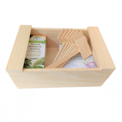 Box na semienka a pomôcky - drevený - pomôcky na pestovanie - 1 ks